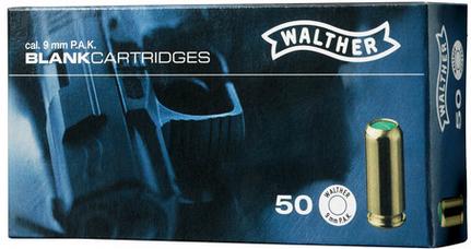 9mm P.A.K. Walther Platzpatronen 50 Stück