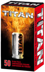 9mm P.A.K. Titan Platzpatronen 250 Stück