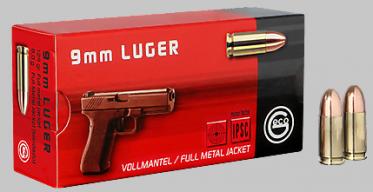 9mm Luger Geco Vollmantel Rundkopf 124gr