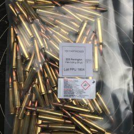 .223 Rem. PPU Vollmantel 55gr Bulk Pack